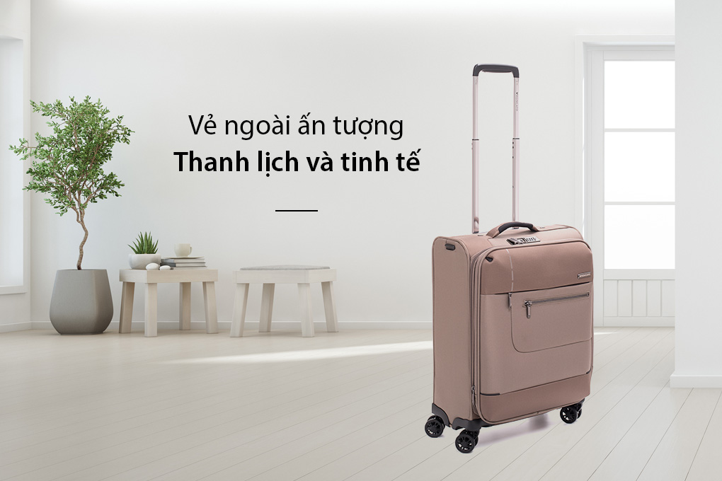 Vali Roncato Sidetrack size S (20 inch) - Ecru thanh lịch