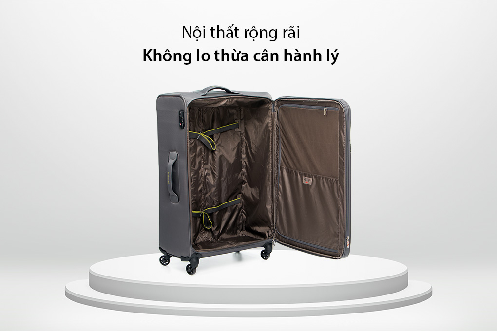 Vali Roncato Speed size L (30 inch) - Antracite ngăn chứa rộng rãi