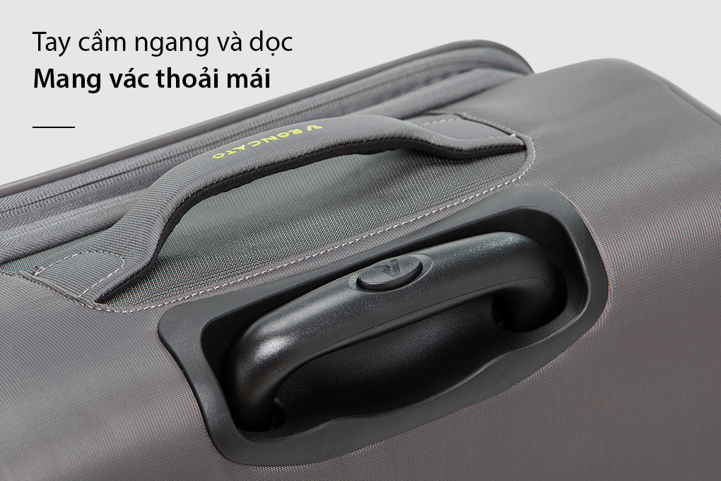 Vali Roncato Speed size L (30 inch) - Antracite tay cầm ngang dọc