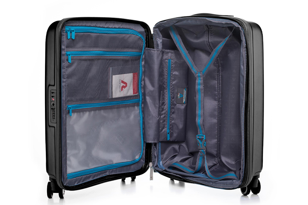 Vali Roncato Exp. Antares Size S (20 inch) - Black ngăn trong thông minh