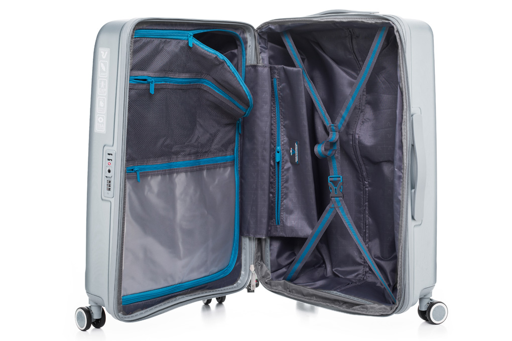 Vali Roncato Exp. Antares Size M (24 inch) - Silver nội thất thoáng rộng