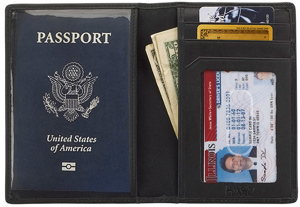 Cover Passport Lewis chống trộm RFID mặt trong
